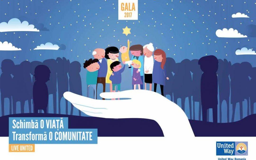 Organizații, companii, donatori și voluntari care sprijină vieți în dificultate, premiați la Gala United Way 2017