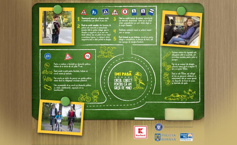 United Way România promovează siguranța rutieră în rândul copiilor și adulților din 80 de orașe din țară