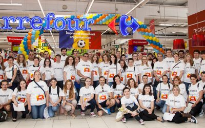 Nine Companies Support Disadvantaged Families in the First Charity Shopping Race Organized by United Way Romania