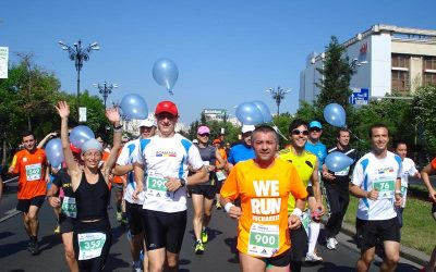 United Way Running Team at the Bucharest Half Marathon