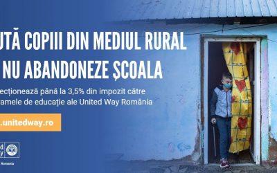 Redirecționează 3,5% din impozitul pe 2020 către programele United Way România