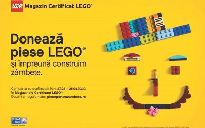 Donează piese LEGO și împreună construim zâmbete